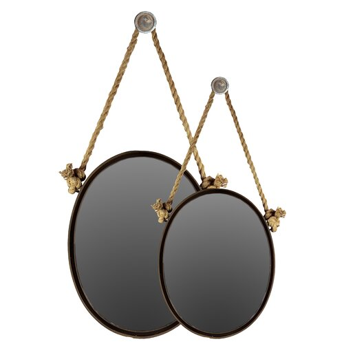 2 Piece Majestic Round Shaped Mirrors Set