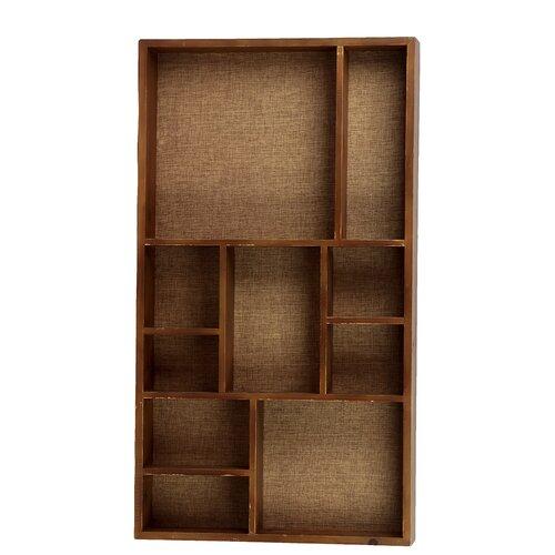 Wooden Wall Functional Shelf