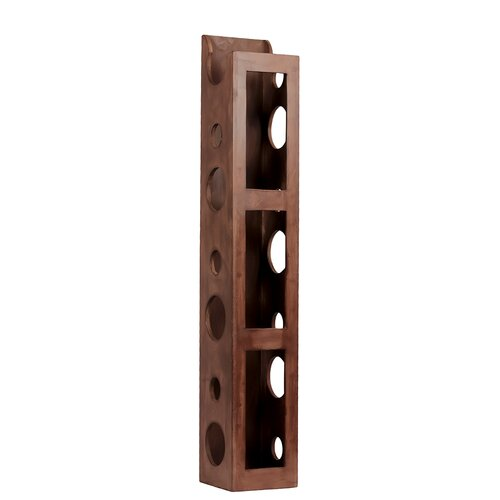 Standing Rectangle Holed Trendy Wine Holder