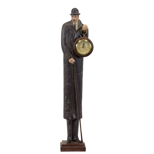 Incredible Resin Man with Clock Statue