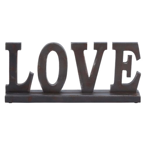 """Woodland Imports Table Top """"Love"""" Statue"""