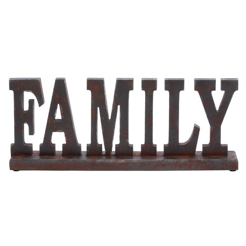 """Woodland Imports Table Top """"Family"""" Statue"""