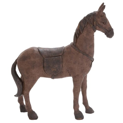 Polystone Riding Horse Figurine