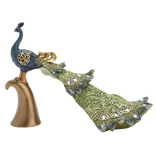 Peacock Décor Figurine