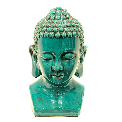Ceramic Buddha Head Figurine