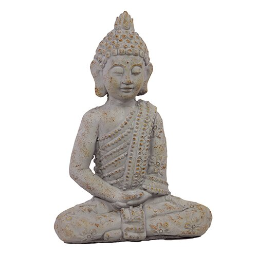 Uniquely Carved Sitting Cement Buddha Statue