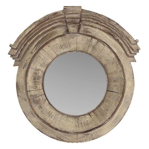 Circular and Magnificent Uniquely Carved Wall Mirror