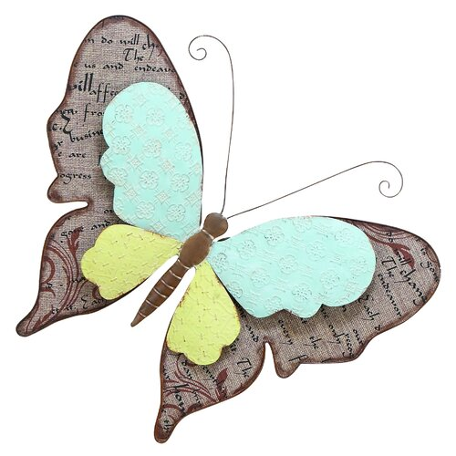 Woodland Imports Scrapbook Butterfly Wall Décor