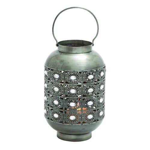 Woodland Imports Beautiful Well Designed Metal Lantern