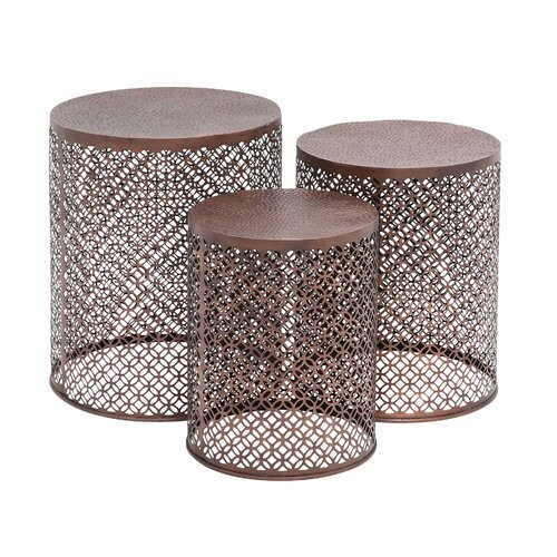 The Intricate 3 Piece End Table Set
