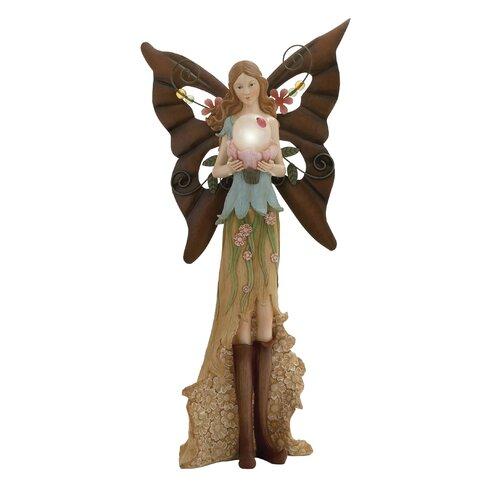 Attractive Polystone Metal Fairy Figurine