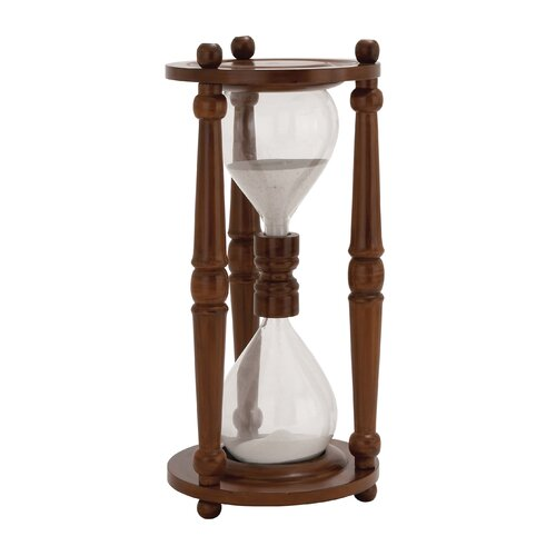 Woodland Imports The Cool Wood Glass Sand Timer