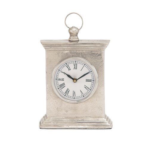 Antique Styled Aluminum Table Clock