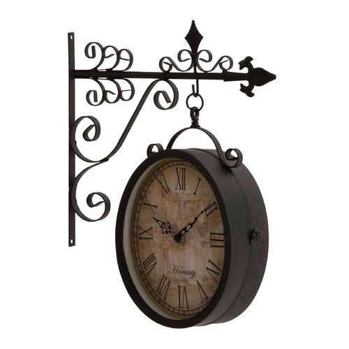 Artistic and Antique Themed Double Side Clock