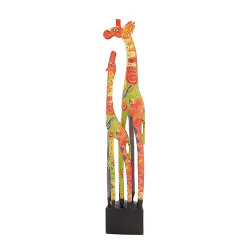 The Colorful Wood Giraffe Statue