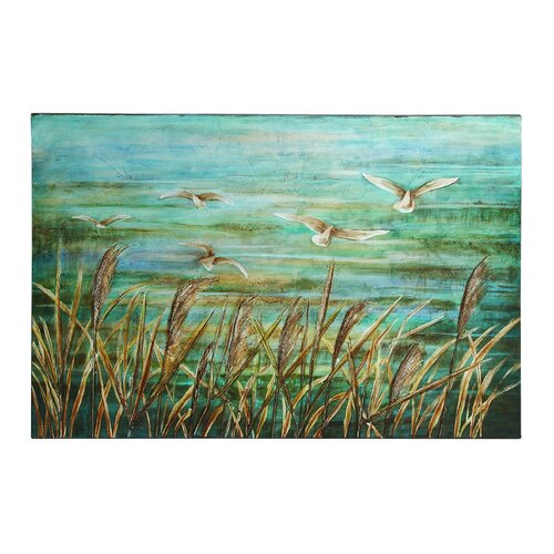 Ke'ài Lovely Painting Prints on Canvas in Blue