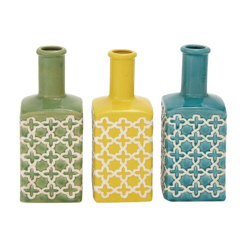 Ceramic Stripe Vase (Set of 3)