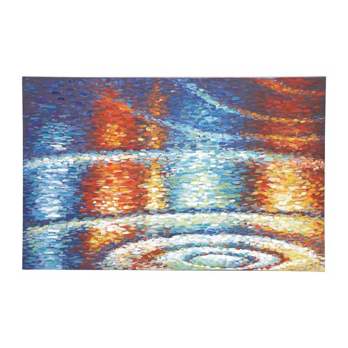 The Beautiful Painting Print on Canvas in Blue / Orange