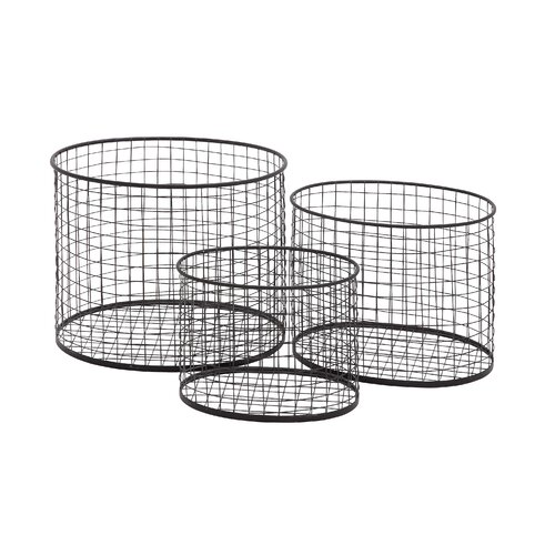 3 Piece Metal Wire Basket Set