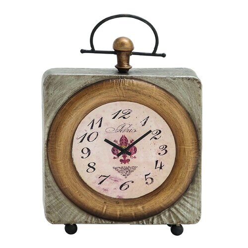 Classic Customary Metal Table Clock
