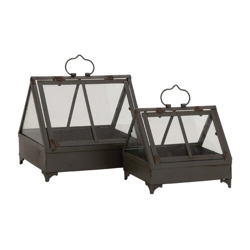 2 Piece Attractive Terrarium Planter Set