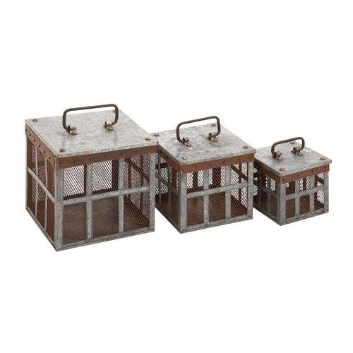3 Piece Classy Metal Wire Basket Set
