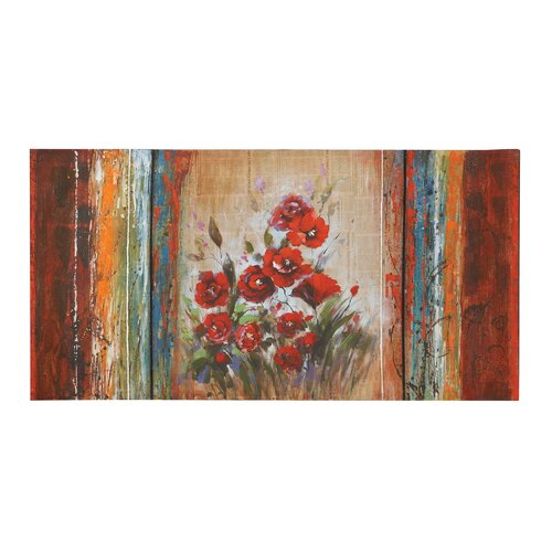 Woodland Imports Rose Painting Print on Canvas