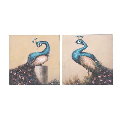 Enchanting and Adoring 2 Piece Painting Print on Canvas Set
