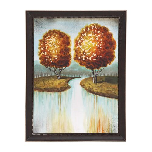 The Fiery Wood Framed Painting Print on Canvas