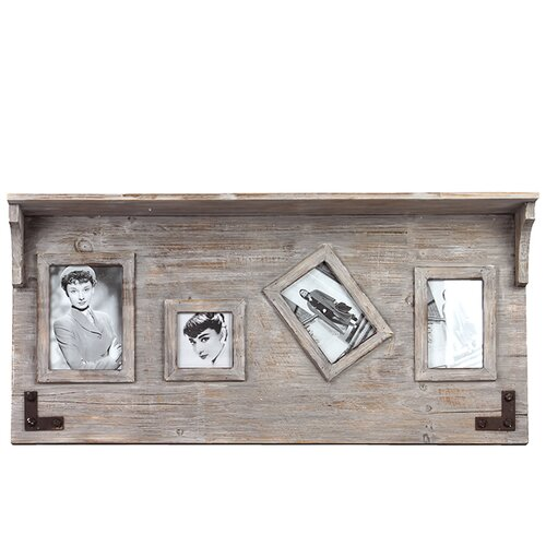 Elegant and Versatile Wooden Top Shelf Picture Frame