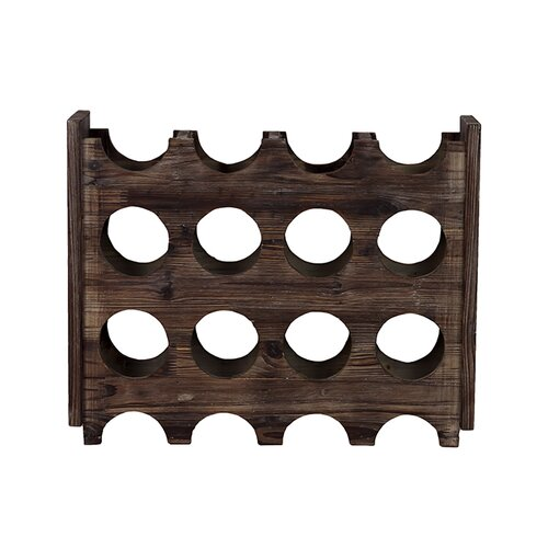 Elegant and Minimalistic 8 Bottle Tabletop Wine Rack