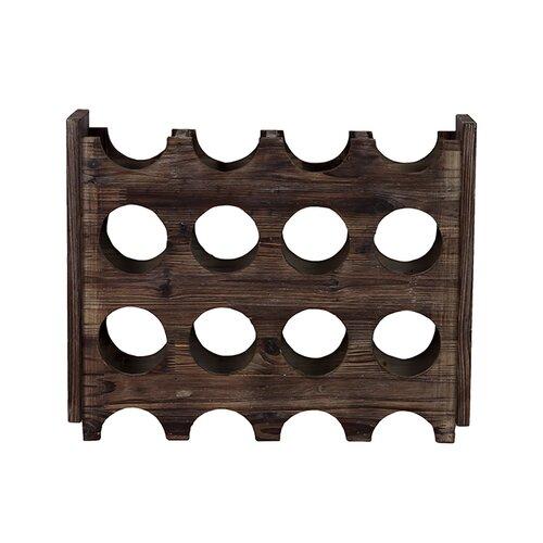 Woodland Imports Elegant and Minimalistic 8 Bottle Tabletop Wine Rack