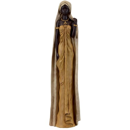 Ethnic and Beautiful Resin Black Woman Statue