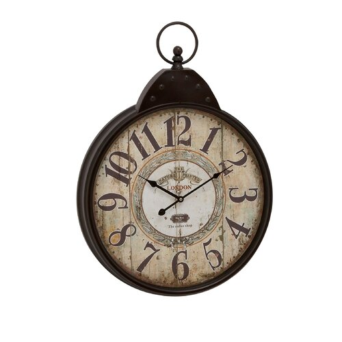 Woodland Imports Oversized Fascinating Styled Berlin Metal Wall Clock