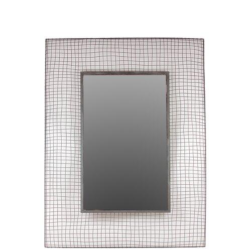 Beautiful Rectangle Shaped Metal Mirror