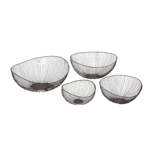 4 Piece Elegant Metal Wire Bowls Set
