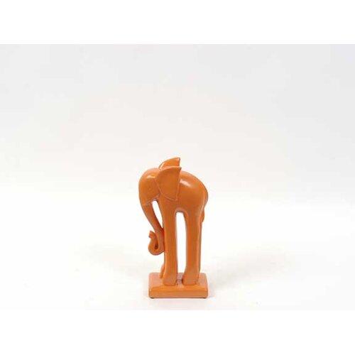 Woodland Imports Ceramic Miniature Elephant Figurine
