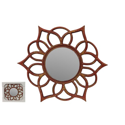 Beautifuly Crafted Floral Design Wooden Mirror