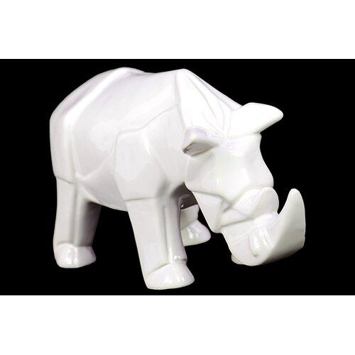 Woodland Imports Contemporary Décor Gorgeous Ceramic Rhino Figurine