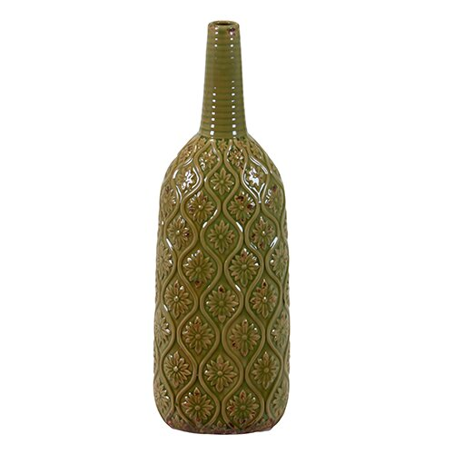 Long Narrow Neck Ceramic Vase