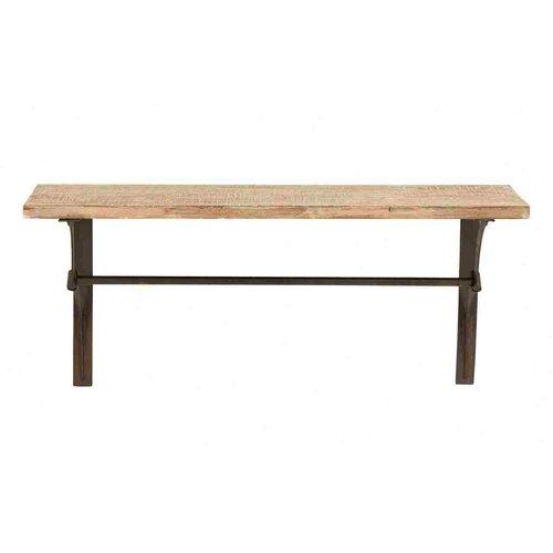 Woodland Imports Metal Wood Shelf