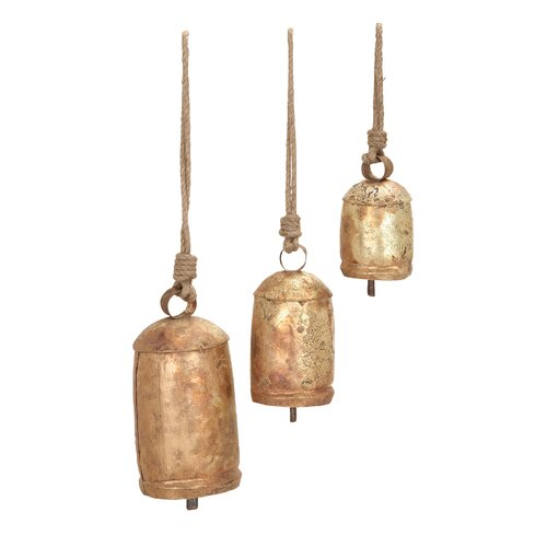 Woodland Imports Rope Cow Bell Set