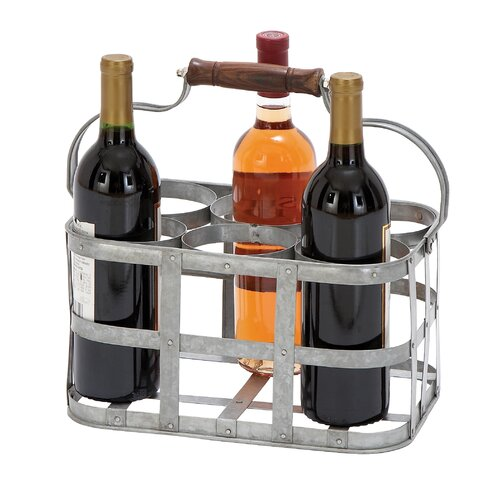 Woodland Imports Vino 6 Bottle Tabletop Wine Rack