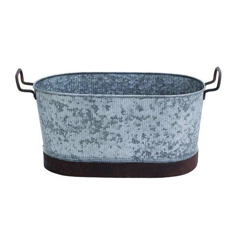 Woodland Imports Galvn Oval Beverage Tub