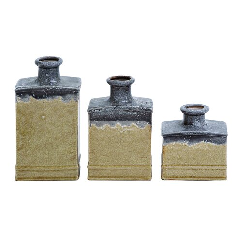 Woodland Imports Ceramic 3 Piece Vase Set