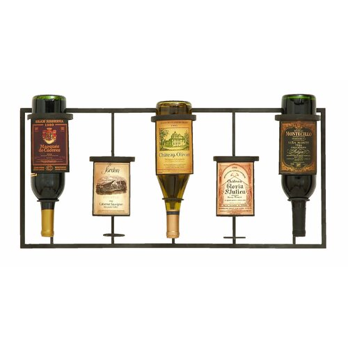5 Bottle Wall Mounted Wine Rack