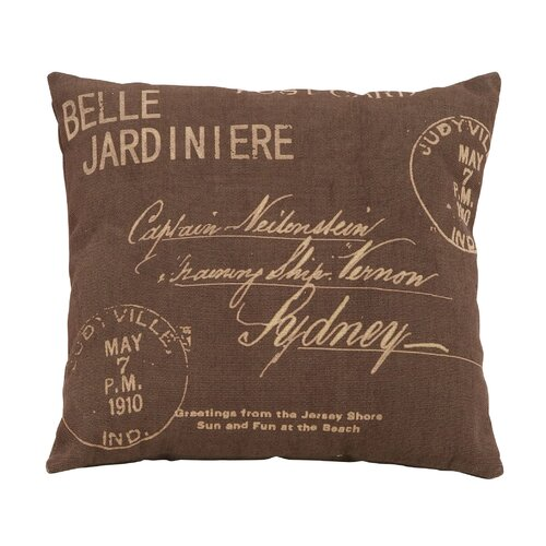 Woodland Imports Paris Postcard Theme Pillow
