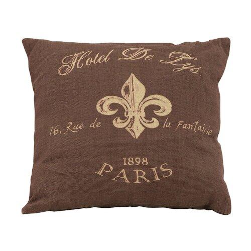 Woodland Imports Paris Hotel Theme Pillow
