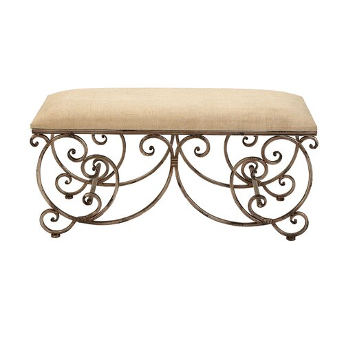 Upholstered Metal Entryway Bench