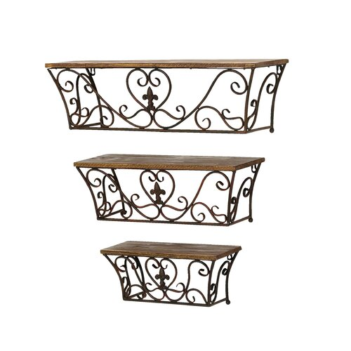 Woodland Imports Metal Wall Shelf